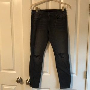 Joes Jeans Black Ripped Skinny Jeans